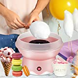 Kacsoo Automatic Cotton Candy Floss Maker Machine for Children's Home Use Food Grade Splash-Proof Plate, Efficient Heating, Hard & Sugar Free Cotton Candy Maker (Pink)