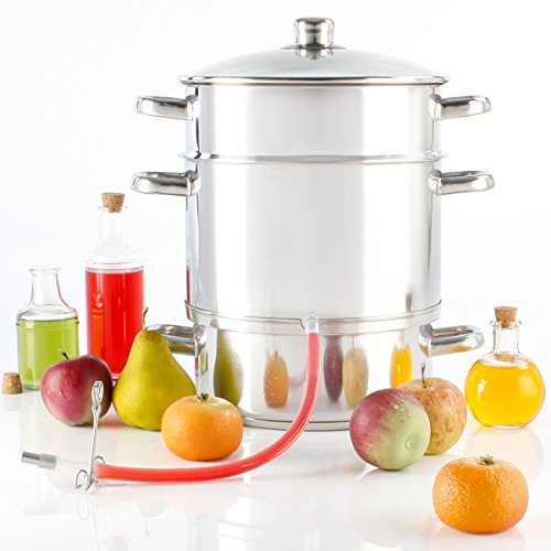 Torrex® 30280 steam juicer Stainless Steel Ø26 cm / 15L Dishwasher Approved Usage with All Kinds of Burners - use with Induction Burner Possible