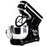 Duronic SM100 /BK Powerful Electric Food Stand Mixer with planetary mixing action and 3 mixing attachments
