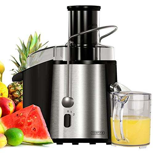 Centrifugal Juicer Machine Whole Fruit Vegetable Extractor 850W Stainless Steel Dual-Speed,Wide Mouth Easy to Clean BPA-Free