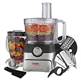 Cooks Professional Food Processor Blender Multifunctional Kitchen Chopper, Includes Accessory Drawer 1000W Black/Silver