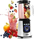 Duronic Electric Blender BL1200 | Stainless-Steel Blades | 1.8 Litre Tritan Jug | Powerful 1200W Motor | Auto-Clean Function | Blends To Make Smoothies Shakes Soups Sauces Crushes Ice