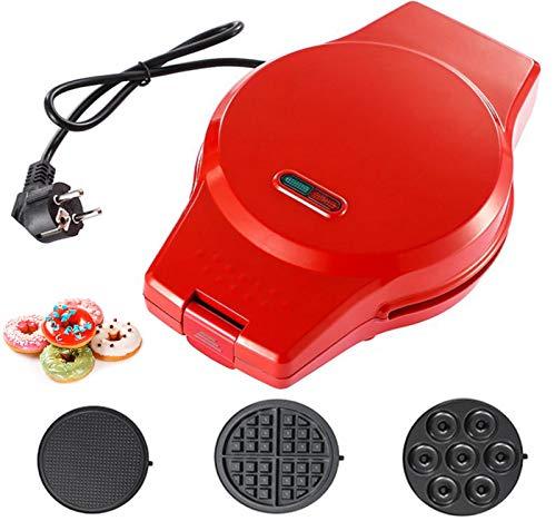 Donut Maker Machine, Donut Maker 3 in 1 Multifunctional Donatsmaker Aud Titanium Alloy And Non-Stick Coating 800Watt Donut Machine Easy To Clean