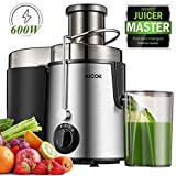 "Juicer Centrifugal AICOK Juicer Machine 3 Speed Mode Wide 3"" Feed Chute Juice Extractor for Whole Fruit and Vegetables Easy Clean 600W, Stainless Steel Juicer with Pulse Function, BPA-Free"