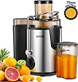Juicer Aicok Juicers Whole Fruit and Vegetable Easy Clean, 3 Speed Juice Machine with Plus Pulse Function, Non-Slip Feet, Stainless Steel and BPA Free