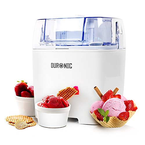 Duronic Ice Cream Maker IM540 | Create Homemade Frozen Desserts like Gelato, Sorbet and Frozen Yogurt | 540W | 1.5L Freezing Bowl | Make Delicious Creamy Ice Cream in Your Own Kitchen in 30 Minutes