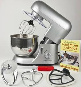Andrew James Electric Food Stand Mixer In Stunning Silver